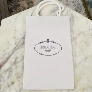 Authentic Prada shopping bag